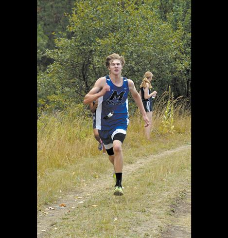 Mission's Tate Weingart charges down the canal road en route to a 12th-place finish.