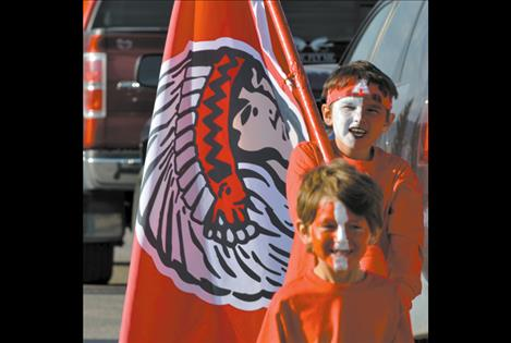 Young boys show their Arlee homecoming spirit.