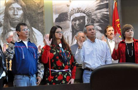 In January 2014, newly elected Confederated Salish and Kootenai Tribal Council members were sworn in. Five new councilmembers will be elected and sworn in January 2016.