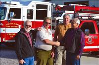 Rural fire chief lauded on last day