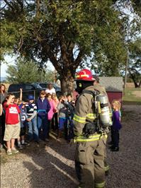 Firefighters teach safety to students
