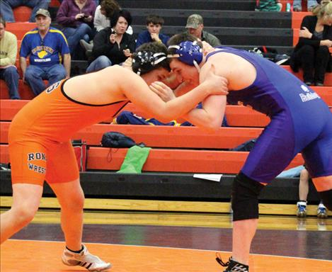 Mission/Charlo wrestler Ethan Goss-Dickie, shown wrestling last year, placed first in his weight class at Saturday's Mission Mixer.