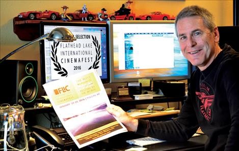 David King holds the flyer for this year's film fest.