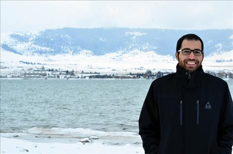 Elias Nawawieh gets used to the cold after moving to Polson.