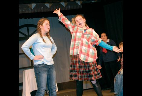 Gladys Herdman, played by Mesa McKee, fires up over the birth of baby Jesus.