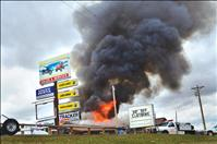 Fire destroys business
