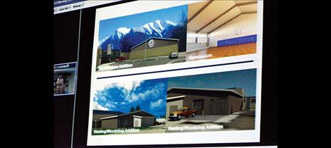Sketches of proposed improvements to Mission schools were available for the public to view at the March 15 Mission School Board meeting.