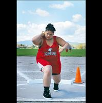 Eagle's Adler strives for shot-put perfection