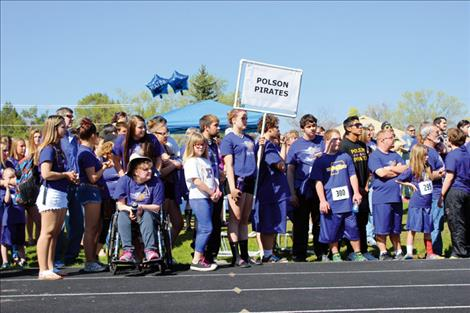 Purple dominated the track during the Special Olympics event.