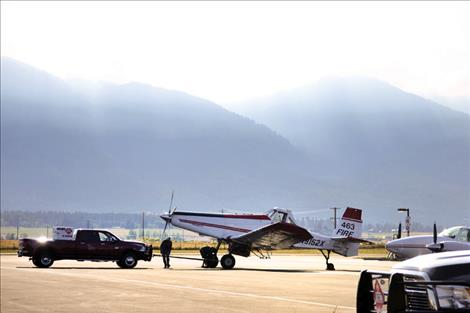 Linda Sappington/Valley Journal The Ronan Airport serves as a hub for firefighting aircraft during the summer fire season and is used year-round by aviators and emergency personnel.