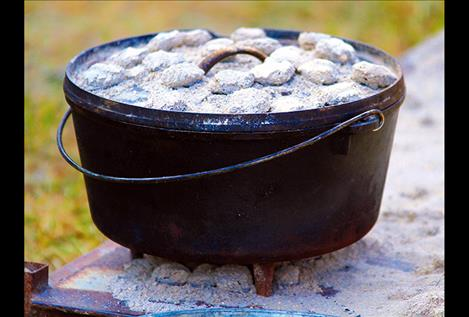Dutch oven cooking is convenient when camping.