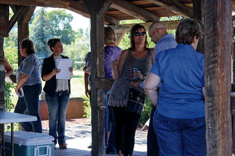 Folks talk about issues concerning the town.