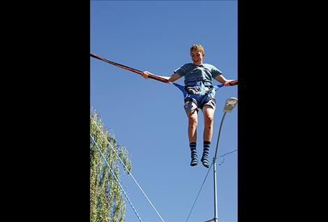 Bungee jumping very popular at 2016 Cherry Festival.