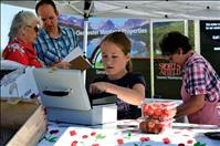 Kids sell cherries for a cause