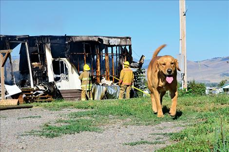 Residents of the home escape the early morning fire, including the pets.