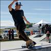 Skateboarders perform tricks during the Skate Jam competition to help raise money for park expansion.