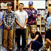 Kicking Horse Job Corps students and staff help with the library remodel.