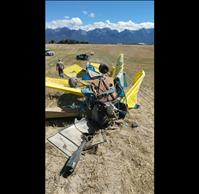 Airplane falls from sky