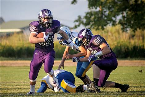 Charlo Viking Jared Doty scored three touchdowns during the Vikings' 40-12 triumph over Victor.