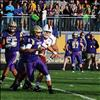 Polson quarterback Tanner Wilson looks for a receiver in a recent home game. Wilson leads the Northwestern A league in rushing, averaging 88 yards per game.