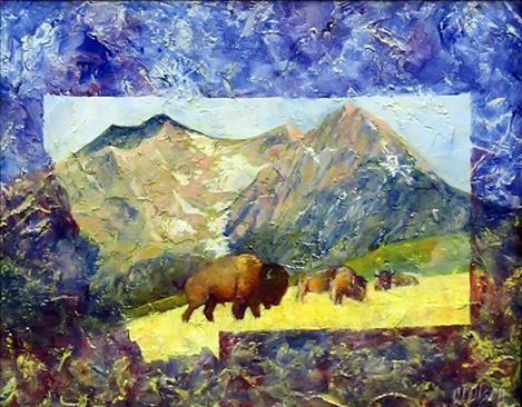 Paintings by Olivia Olsen and Juanita Small Salmon support the museum.