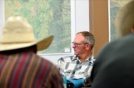 Wayne Blevins leads the Flathead Joint Board of Control meeting Tuesday, Sept. 13.