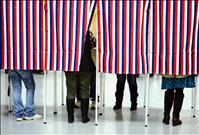 Voters make their mark
