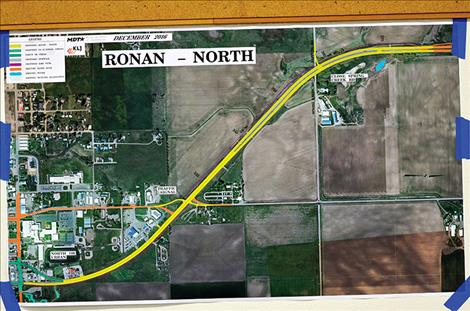 Highway Construction begins on the north side of Ronan in 2018 to expand the road, put in a stoplight, trail system, and close Spring Creek Road.