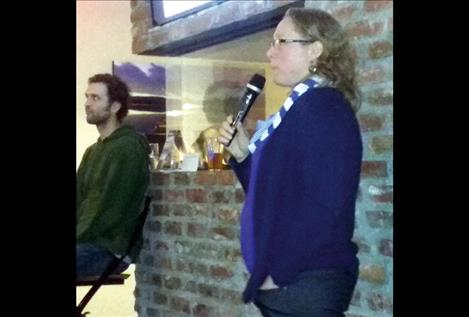 Tabitha Graves, a research ecologist with the U. S. Geological Survey, spoke about a grizzly bear family tree last week at the Flathead Lake Brewery in Bigfork.