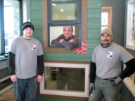 Three of the four employees at Pioneer Window & Door are ready to help. Employees, from left, are Garrett Fern, general manager; Aaron Purser, co-owner; and Corey DuCharme, installer/glazer.