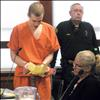 Stephen Seese reads a prepared statement prior to his sentencing Feb. 15.