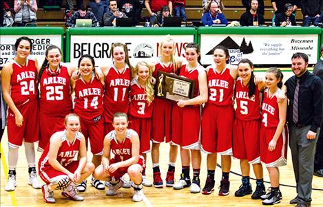 The Scarlets will bring home the hardware to Arlee High School.
