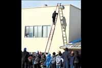 Principal sleeps on school roof