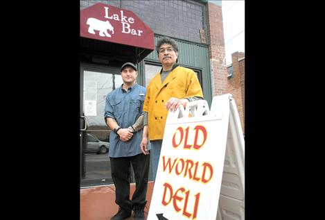 Guy Hill's Old World Deli is now at the Lake Bar, where Sean Perry, left, is the manager.
