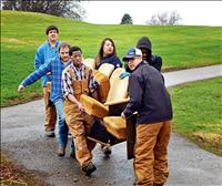 Job Corps students volunteer around county