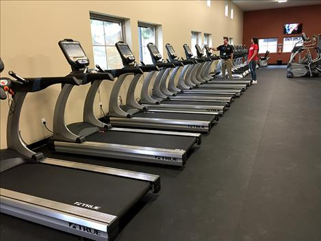 Polson Medical Fitness Center features many new pieces of equipment including big screens, weights and treadmills.