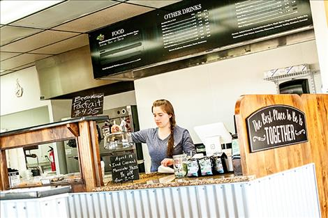Revive Coffee shop starts out in Ronan with many items on the menu.