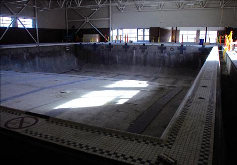 The pools at Mission Valley Aquatics need plastering and filling with water to cure before they are ready.