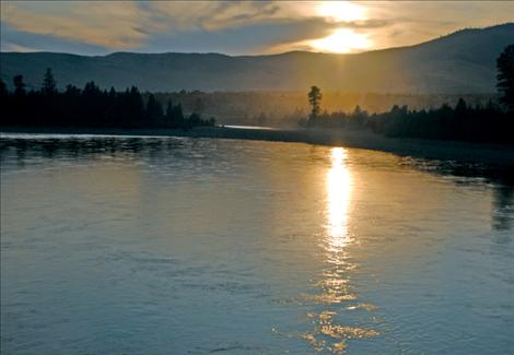 The Flathead River flows southwest near Buffalo Bridge, oblivious to the proposed water rights compact on the table for the Flathead Reservation.
