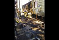 Ronan Fire  Department  quickly puts out trailer fire
