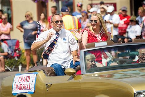 Polson 4th of July parade Grand Marshall Ken Alison