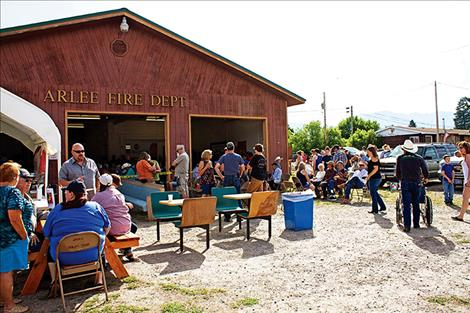 The old firehouse was crowded Tuesday morning for the annual fireman's breakfast. The yearly fundraiser helps pay for new equipment for the department.