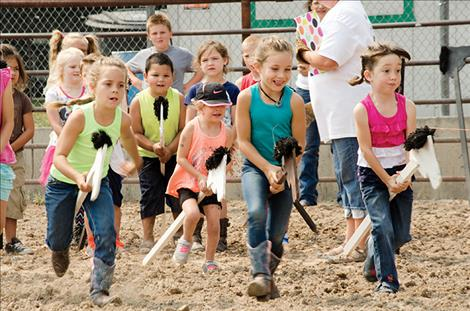 Kids from all over the county gathered for the Kiddie City Slicker Rodeo, Farmers Olympics and other fun events last Saturday at Ronan Pioneer Days.