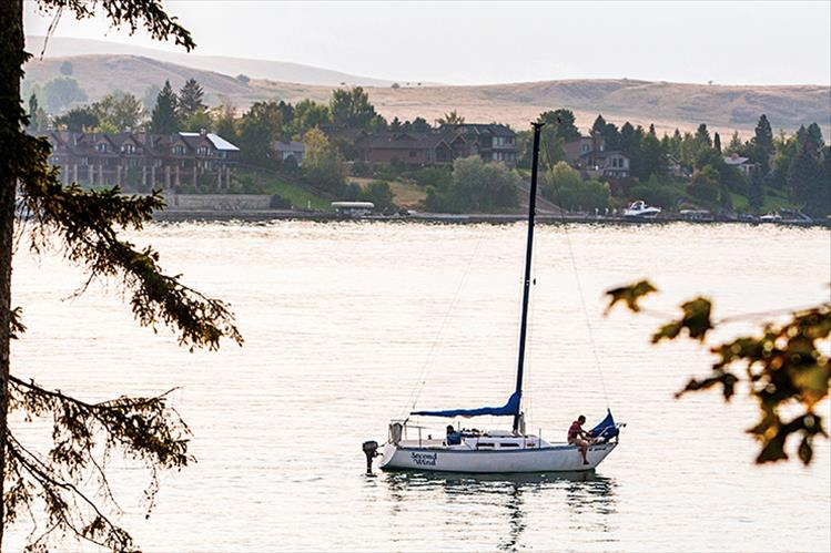 A sailor takes a Second Wind ride out on Flathead Lake.