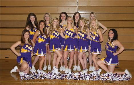 The Polson High School cheer squad wears new uniforms recently purchased with a $3,100 grant from the U.S. Charitable Trust on behalf of the McWayne Family Foundation.