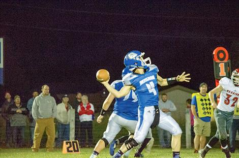 The Mission football team played Arlee on Friday night.