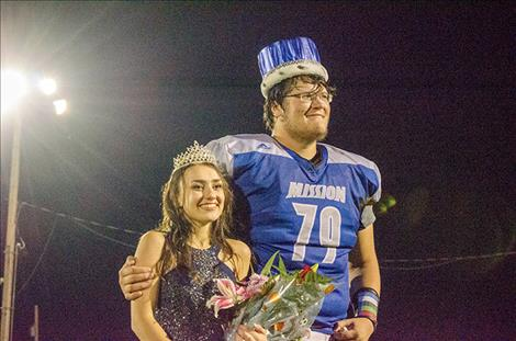 Abbey Arlint was crowned queen and Michael Durglo was crowned king during the half time football celebration.