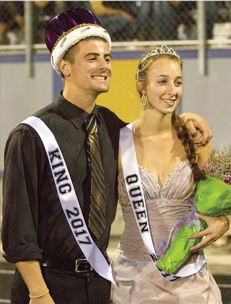 Russell Smith and  Laurel Bitterman were crowned Polson's  homecoming king and queen.