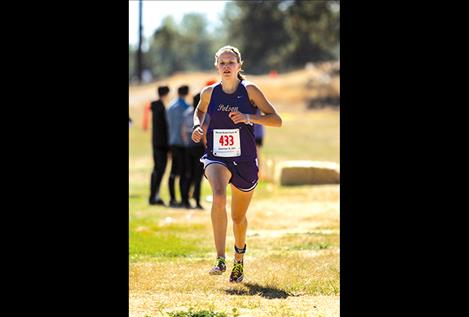 Lady Pirates' Beatrix Frissell, shown competing during a meet in September, earned first place at State last weekend.