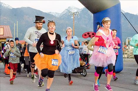 The Light the Night 5K started just as the sun was going down on Friday.